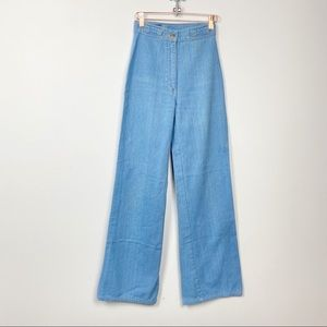 Vtg 70s Foxmoor hi rise light wash denim jeans